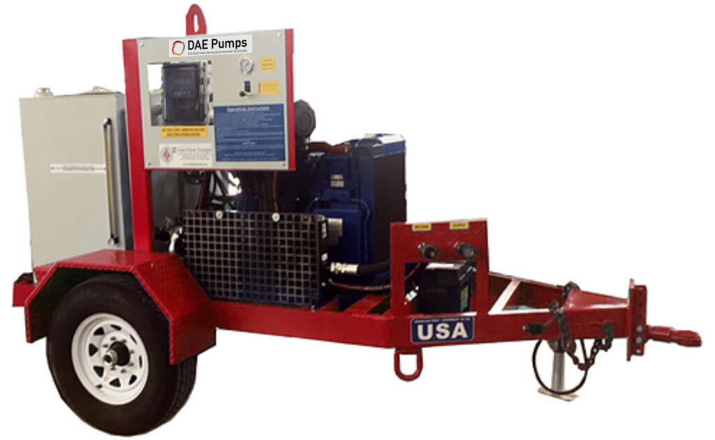 DAE Pumps Prime 74 Hydraulic Power Unit Trailer
