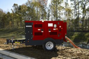 DAE Pumps Appalachian Series Dewatering Surface Pump on Site