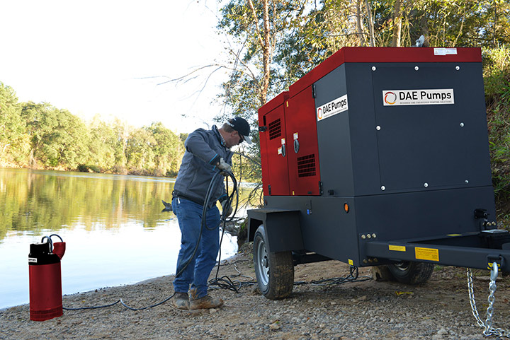DAE Pumps Horton Mobile Power Generator with Gulfport Submersible Pump