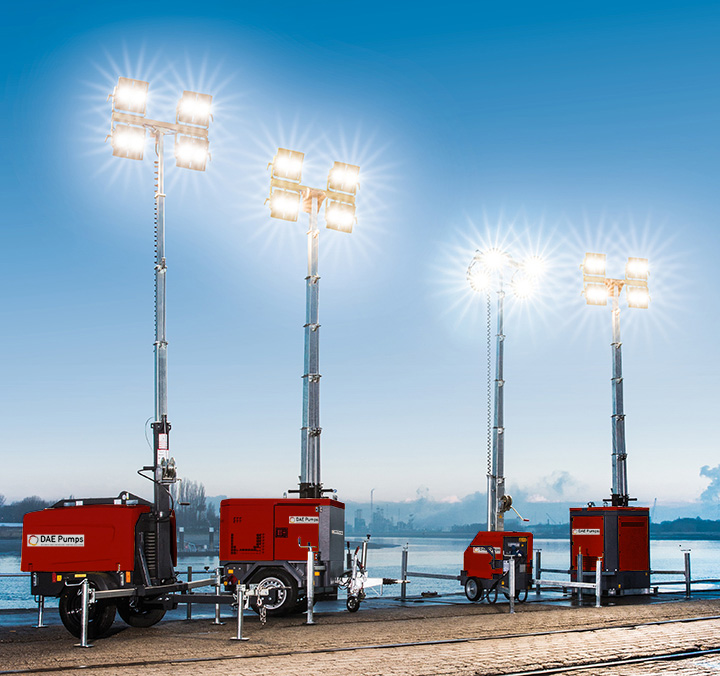 DAE Pumps SITE Mobile Light Towers - LED Group