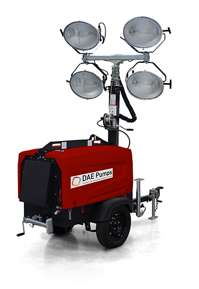 DAE Pumps SITE V4 Mobile Light Tower