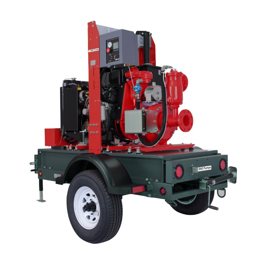DAE Pumps Appalachian 40 Self-Priming Pump with Trailer