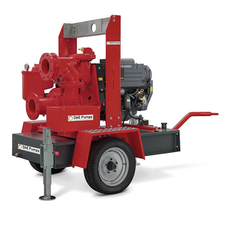 DAE Pumps Appalachian 80 Self-Priming Pump with Trailer