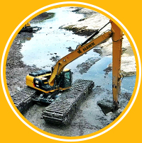 DAE Pumps Hawk Amphibious Tracks Excavator
