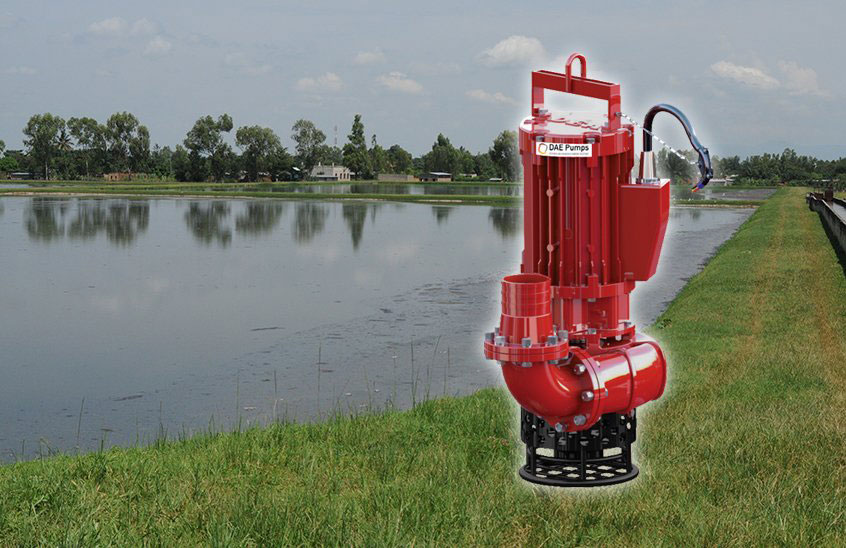 DAE Pumps SLD-Series Wastewater Lagoon