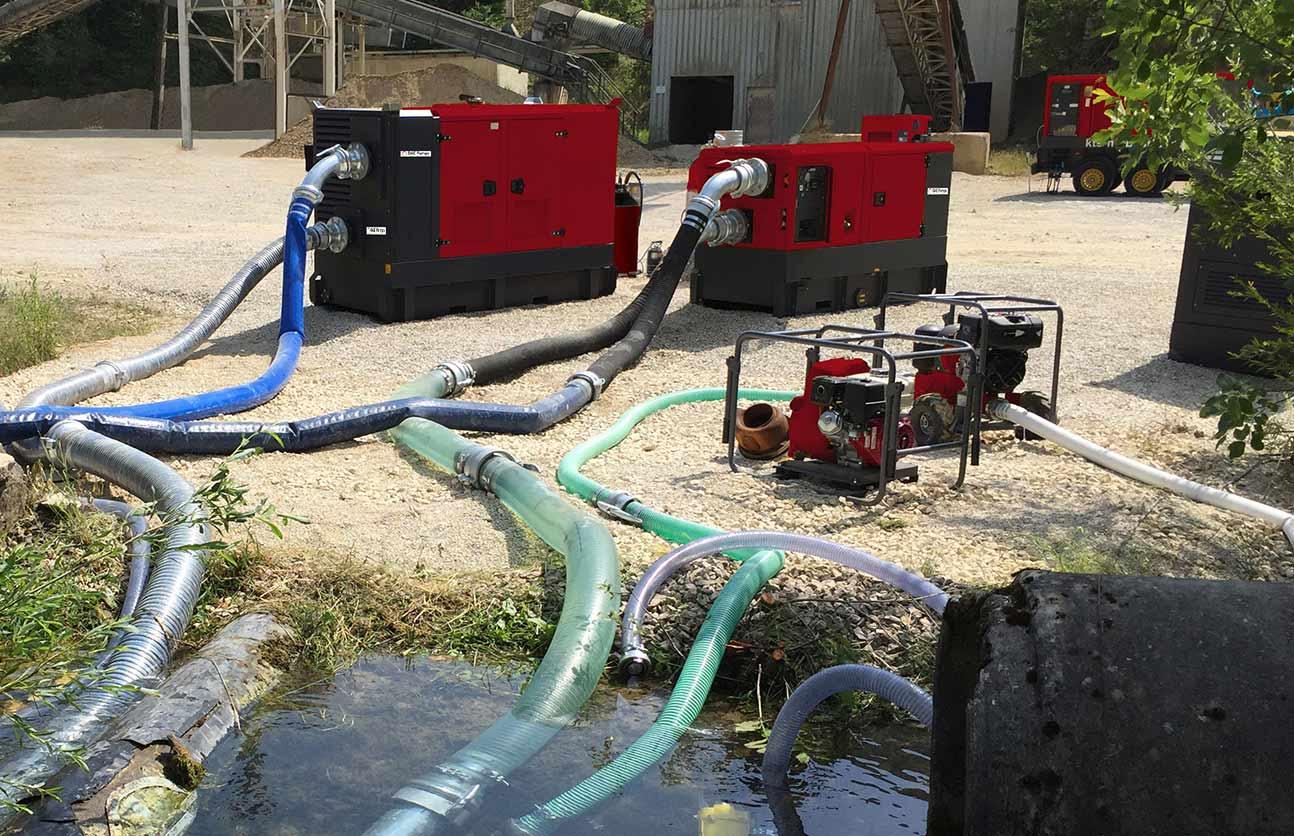 DAE Pumps Dewatering pump application