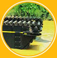 Hawk Excavator Swamp Tracks